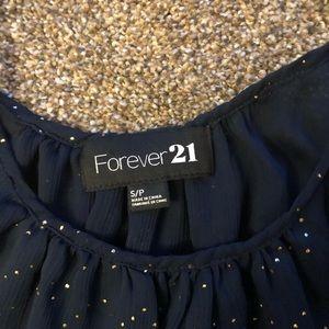 Forever 21 Tops - Forever 21 blue tank/blouse